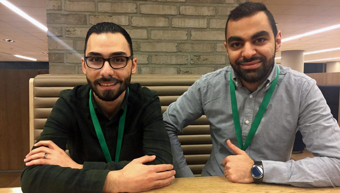 Bilder av syrerne Ahed og Mohammad