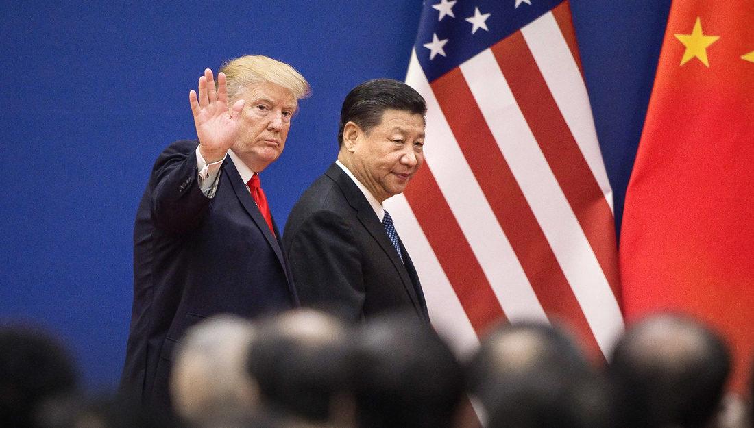 Bildet viser USAs og Kinas presidenter