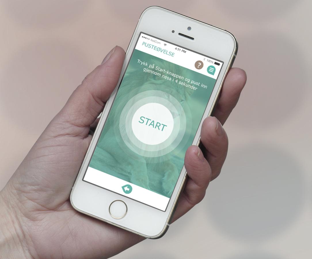 bilde av appen mindfit som hjelper de i livskrise